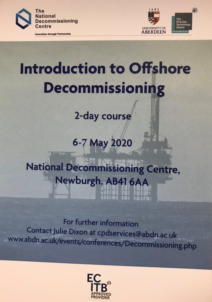 Introduction to Offshore Decommissioning – Now available online